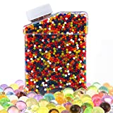 jelly bean dirt - Water Beads,Environmental Absorbent Polymer Jelly Water Growing Balls for Kids Tactile Sensory Toys, Vases, Plants, Wedding and Home Decoration Rainbow Mix 35000 Pieces by WEfun