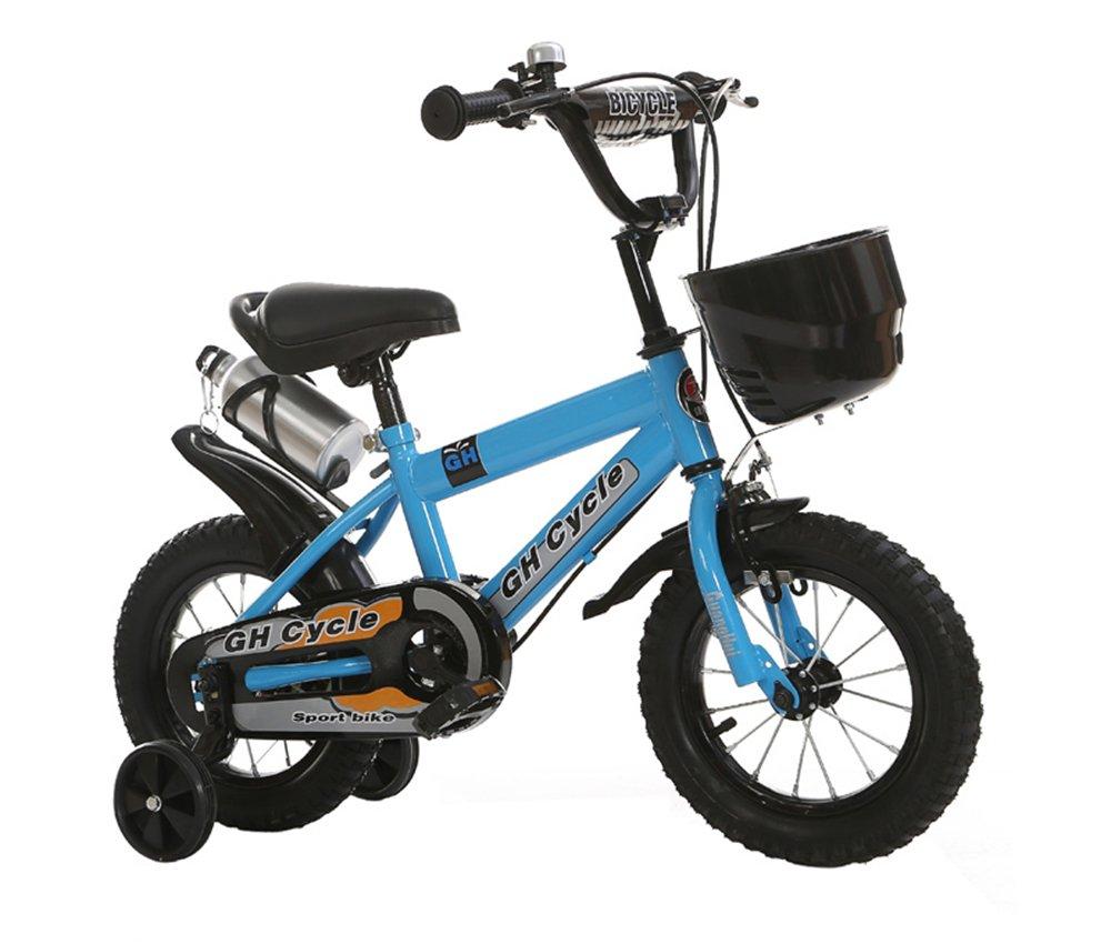 ベビーカー、男性と女性のサイクリング、子供用自転車 ( 色 : 青 , サイズ さいず : 115cm ) B078KTHFV7 115cm|青 青 115cm