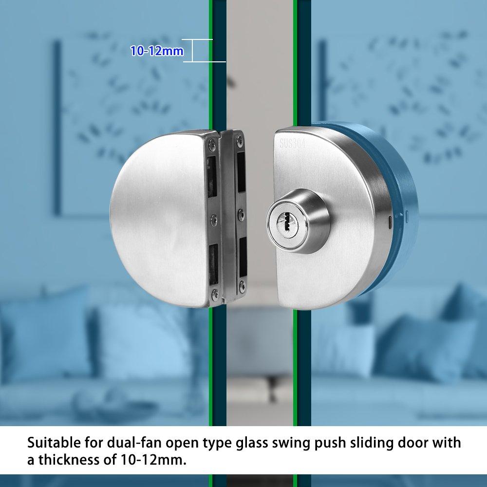 Amazon.com: OWSOO 10-12mm Glass Door Lock Stainless Steel Double ...