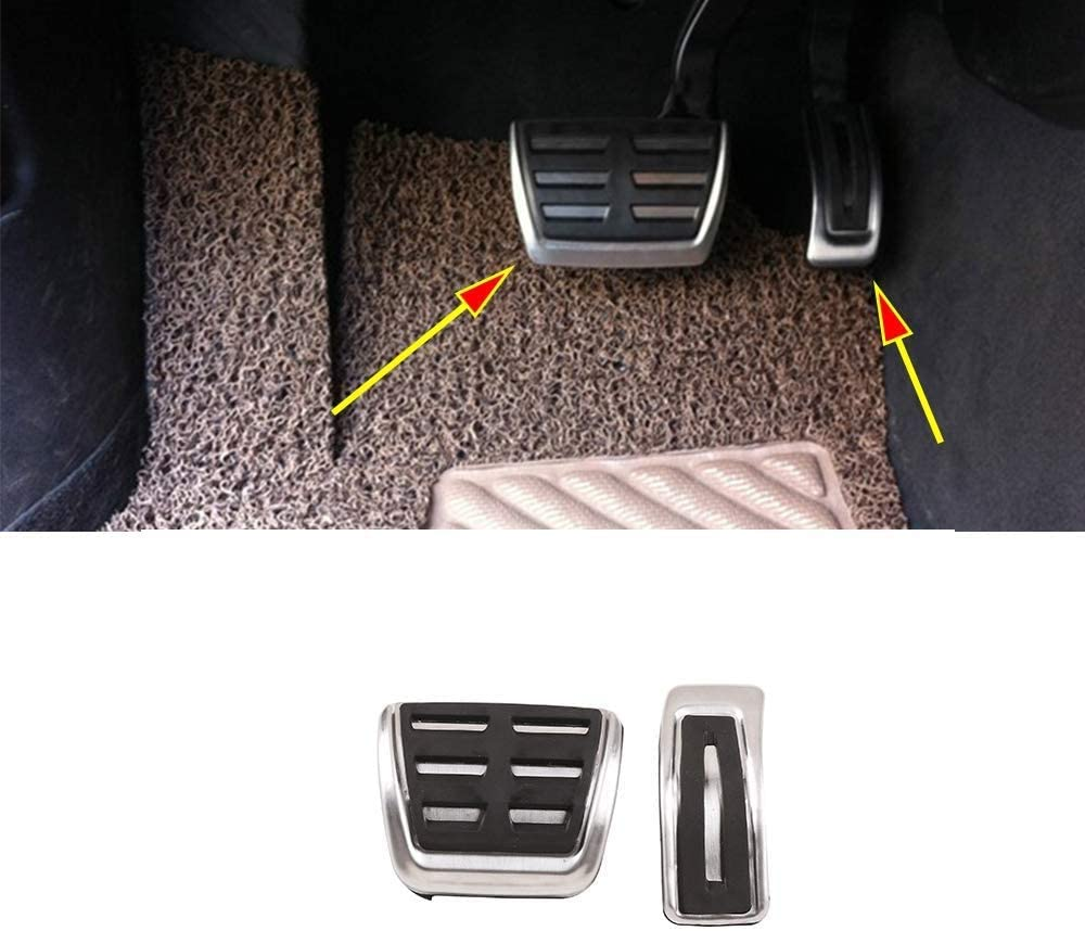 Alloy Accelerator Gas Brake Footrest Pedal Plate Pad Cover For Porsche Cayenne