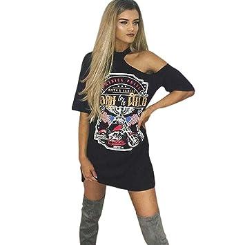 Vestido de Camiseta sin Tirantes Estampado by Ba Zha Hei, Vestidos de Fiesta Vestido de