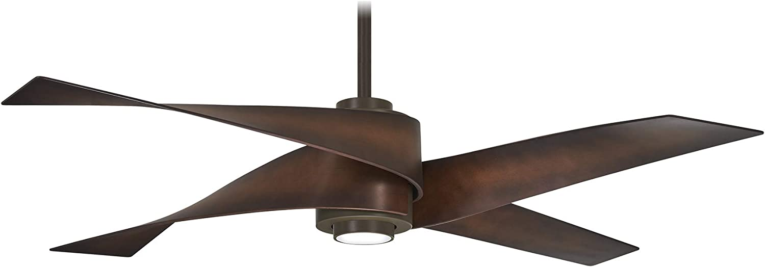 Minka-Aire F903L-ORB Artemis IV 64 Inch Ceiling Fan with LED Light and DC Motor in Oil Rubbed Bronze Finish
