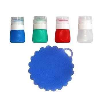 viotyst portátil salsas botellas vestir a Go aliños de ensalada contenedores, Mini contenedores de almacenamiento