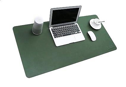 Bubm tapis de souris en cuir pu et mate bureau pad et protection d