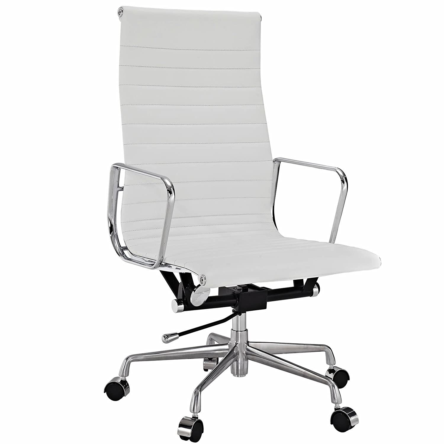 Eames office chair replica Desk Amazoncom Eames Style Aluminum Group Executive Office Chair Reproduction Leather White Musical Instruments Amazoncom Amazoncom Eames Style Aluminum Group Executive Office Chair
