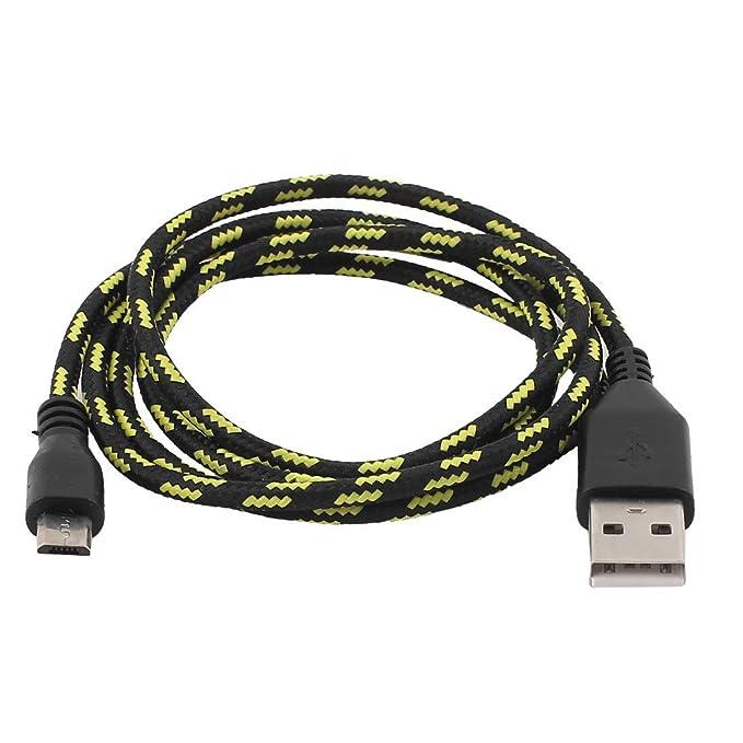 Amazon.com: eDealMax USB2.0 A a Micro USB adaptador Macho de alta velocidad de datos por Cable Negro Amarillo 1M: Electronics