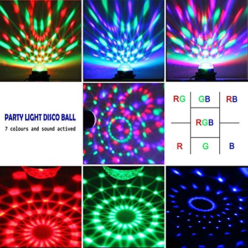 SKONYON LED Party Lights Sound Activated Disco Ball Lights with Remote Control Dj Lighting RBG Disco Ball ...  sc 1 st  LED Source : sound activated lighting - azcodes.com