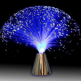 Amazon.com: Lámpara de mesa LED de fibra óptica, fibra ...