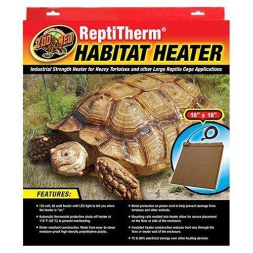 Zoo Med Laboratories SZMRH20 40-Watt Repti Therm Habitat Heater