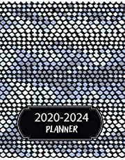 2020-2024 Planner: 5 Year Monthly Weekly Planner Calendar Schedule Organizer 60 Months With Holidays and Inspirational Quotes ( Blue Snake Skin )