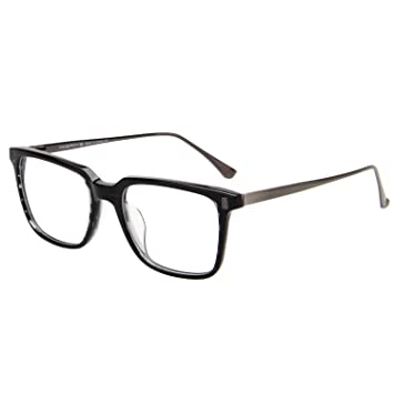 70ab67c931 Image Unavailable. Image not available for. Color  Amorays Acetate Rectangle  Womens Mens Designer Vintage Fashion Optical Glasses Frames AM905 grey