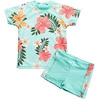 Vivafun Toddler Girls Swimsuit Two-Piece Rash Guard Set UV Protective