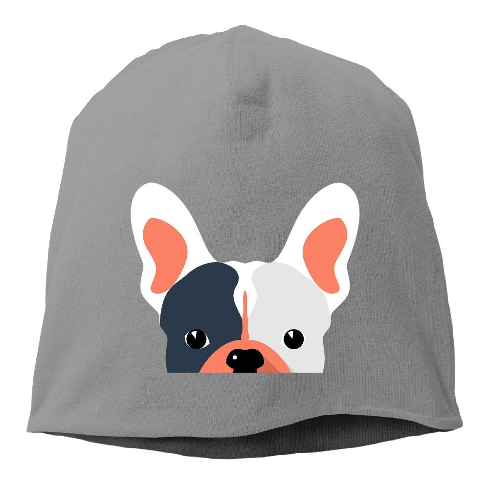 Janeither Headscarf Funny French Bulldog Dog Hip-Hop Knitted Hat for Mens Womens Fashion Beanie Cap