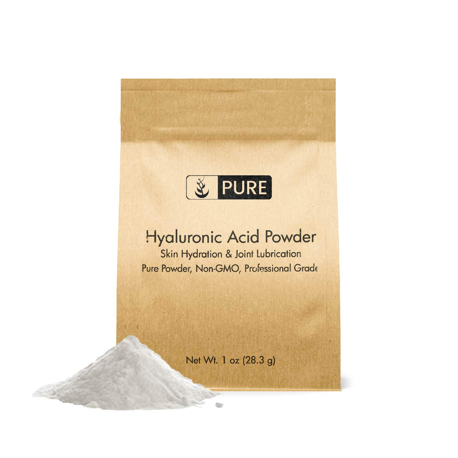 Hyaluronic Acid Powder (1 oz) by Pure Ingredients, Highest Purity, Food & Cosmetic Grade, Skin Care, Eco-Friendly Packaging