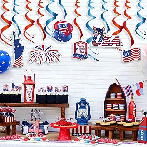 50% Off Coupon – 54 Pieces American Patriotic Party Decorations Set