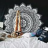 Black White Mandala Tapestry,Indian Hippie Wall Hanging,Mandala Wall Tapestries,Mandala Wall Art