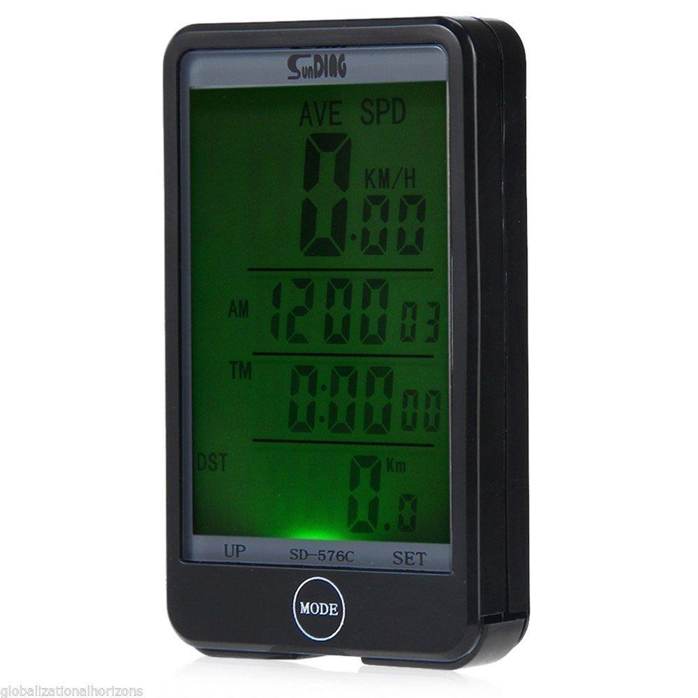 OriGlam Bike Computer, Wireless Bicycle Speedometer, Multi Function Waterproof Cycling Odometer with Large LCD Screen Display
