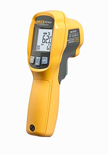 Fluke 62 MAX IR Thermometer, Non Contact, -20 to 932 Degree F Range