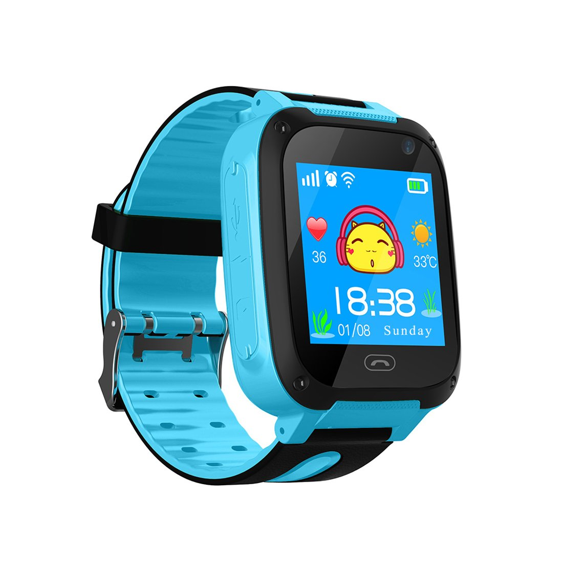 Kids Smart Watch Phone, Smartwatches for Children with GPS Tracker Anti-Lost SOS Call Boys and Girls Birthday Compatible Android iOS Touch Screen ...