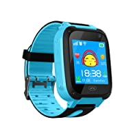 TDH Niños Inteligente Relojes, LBS Kids SmartWatch con Camara, Flash luz, SOS, nocturna pantalla táctil, Reloj Inteligente Anti - Lost Smart tracker Pulsera Compatible para iPhone Android