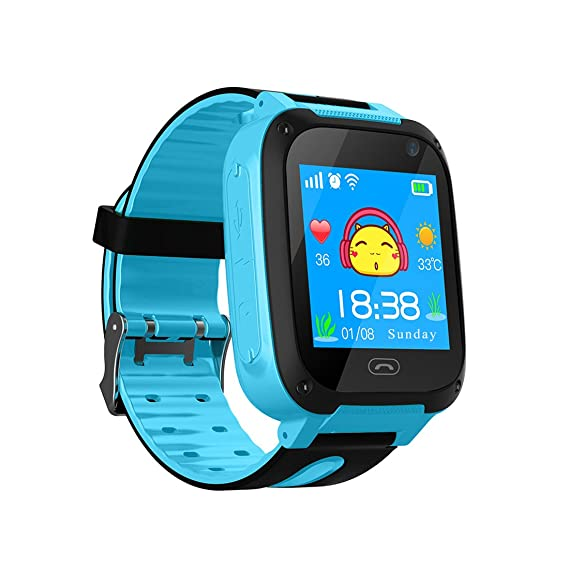 Amazon.com: Kids Smart Watch Phone, Smartwatches for Children with GPS Tracker Anti-Lost SOS Call Boys and Girls Birthday Compatible Android iOS Touch ...