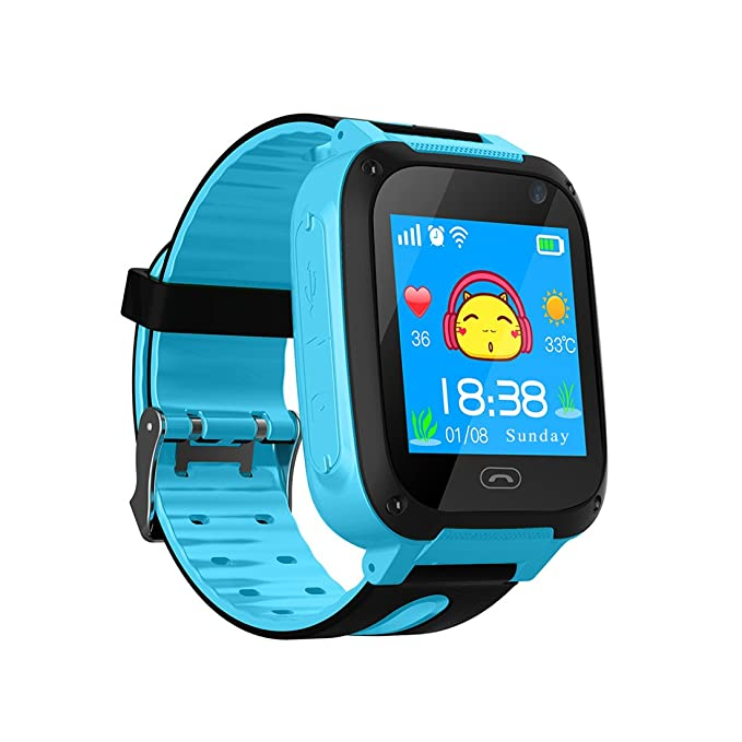 Kids Smart Watch Phone,Touch Screen GPS Tracker for Kids with Pedometer Camera SIM Calls