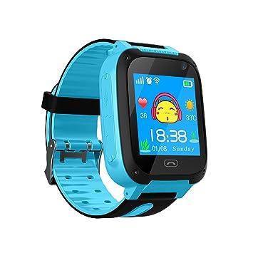 TDH Niños Inteligente Relojes, GPS Kids SmartWatch con Camara, Flash luz, SOS, nocturna pantalla táctil, Reloj Inteligente Anti - Lost Smart tracker ...