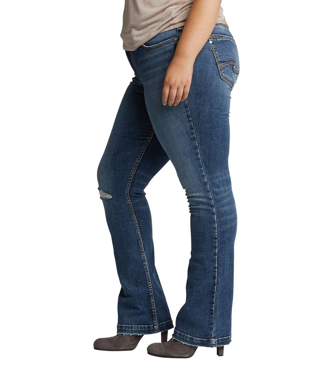 ad30c66966033 Silver Jeans Co. Women s Plus Size Elyse Relaxed Fit Mid Rise Slim Bootcut.  About this product. Picture 1 of 4  Picture 2 of 4  Picture 3 of 4 ...