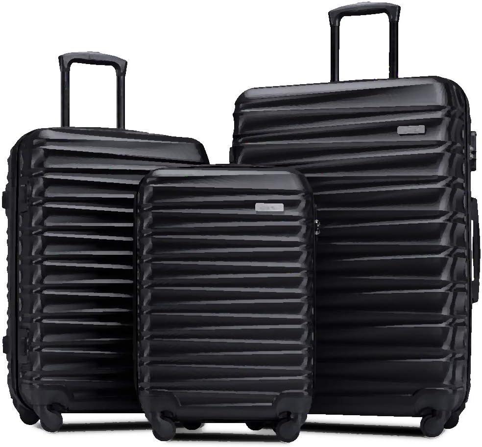 Romatlink Luggage 3 Piece Set Hardside Suitcase Spinner Travel Carry