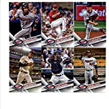2017 Topps Minnesota Twins Complete Master Team Set of 31 Cards (Series 1, 2, Update) with Jose Berrios(#8), Kurt Suzuki(#27), Miguel Sano(#126), Eddie Rosario(#201), Byron Buxton(#227), Minnesota Twins(#304), Tyler Duffey(#305), Robbie Grossman(#313), Hector Santiago(#336), Phil Hughes(#379), Joe Mauer(#404), Max Kepler(#405), Eduardo Escobar(#407), Danny Santana(#453), Ryan Vogelsong(#491), Brian Dozier(#543), Jason Castro(#554), Ryan Pressly(#568), TRIPLET OF TWINS(#590), plus more