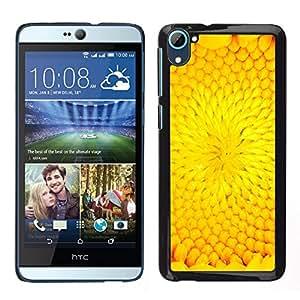 HTC Desire 826 dual Único Patrón Plástico Duro Fundas Cover Cubre Hard Case Cover - Flower Petal Sunflower Summer