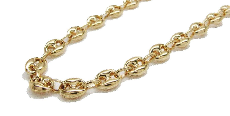 f52c61ddf 10K Italian Yellow Gold Puff Mariner Link Chain 26 Inches 6.5MM Hollow    Amazon.com