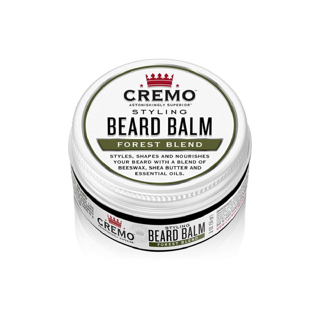 Cremo Styling Beard Balm, Forest Blend, Nourishes, Shapes And Moisturizes All Lengths Of Facial Hair, Woodsy Forest 2 Ounce