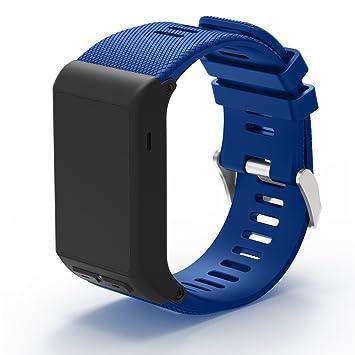 XIHAMA Correa de Reloj para Garmin Vivoactive HR, Correa de Silicona Ajustable de Repuesto para