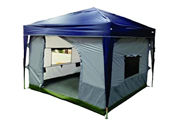 NTK TRANSFORM C&ing Tent attaches to any 10u0027x10u0027 Easy Up Pop Up Canopy  sc 1 st  Amazon.com & Amazon.com : NTK TRANSFORM Camping Tent attaches to any 10u0027x10 ...