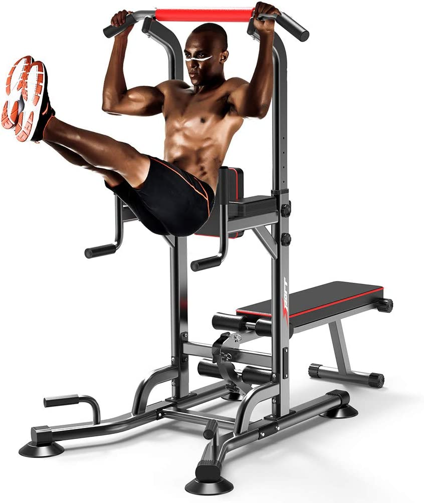 Huitrady Power Tower Dip Station and Dumbbell Stool Pull-Ups Home Gyms