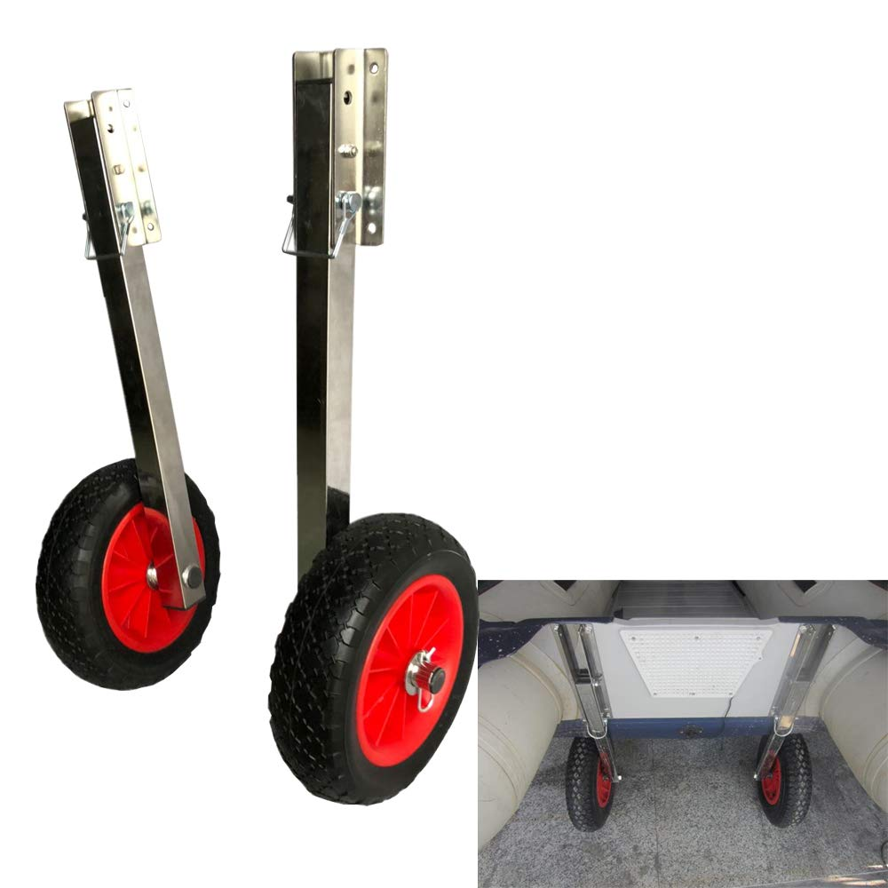 Prairie Metal Deluxe Boat Launching Wheels System for Zodiac Type Inflatable Boats and Aluminum Boats by Prairie Metal