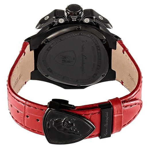 9d48a6518 Tonino Lamborghini Spyder 3000 Watch for Men - Analog Leather Band - TL  3018: Amazon.ae