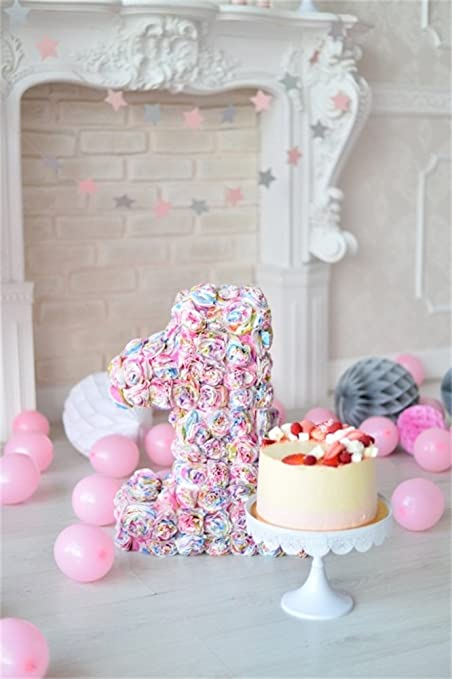 amazon com ofila baby girls 1st birthday backdrop 3x5ft cake smash
