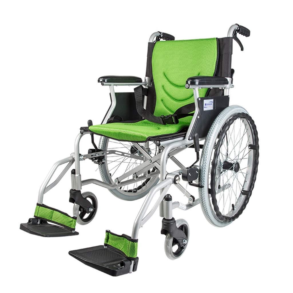 【感謝価格】 手動車椅子 - : 軽量折りたたみ式ホーム高齢者障害者車椅子 (色 : 緑) 手動車椅子 緑 B07P85LRWD B07P85LRWD, ワイン通販 エノテカ:fcadf47a --- a0267596.xsph.ru