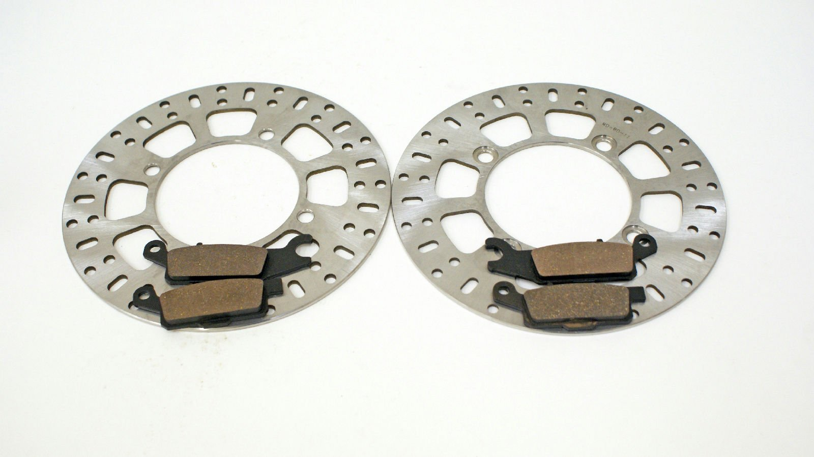 2011 2012 2013 Yamaha 700 Grizzly YFM700 Front Brakes Brake Pads & Brake Rotors by CycleATV