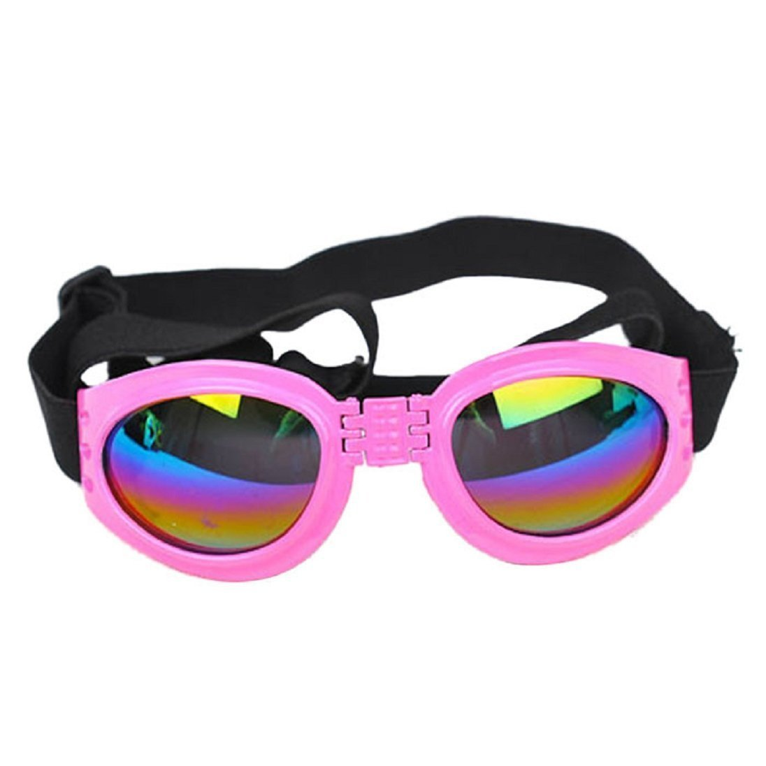 Kaisir Animaux de compagnie chien chat protection UV des lunettes de soleil pliable lentilles oeil protection contre l'usure avec sangle réglable (bleu)