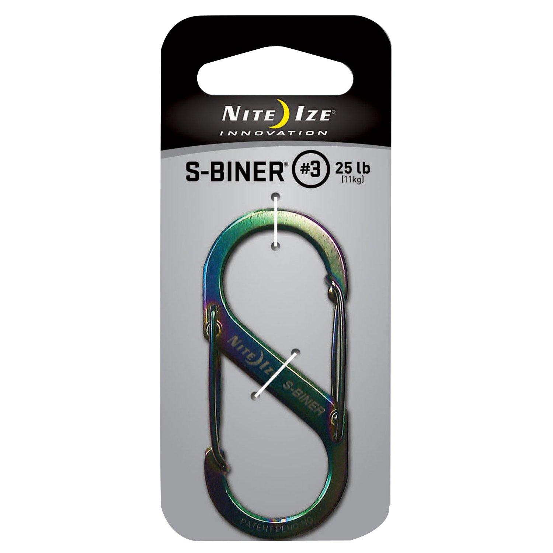 Nite Ize SB3-03-07 Size-3 S-Biner, Spectrum