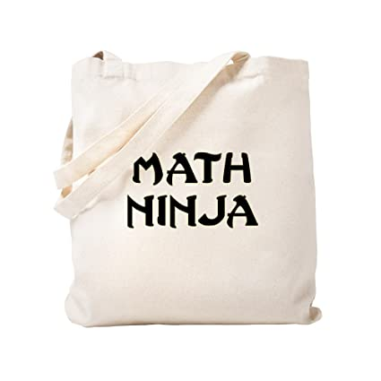 Amazon.com: CafePress - Math Ninja - Natural Canvas Tote Bag ...