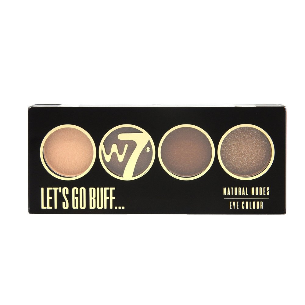 W7 Let's Go Quad Eye Colour Eye Shadow Palette-Let's Go Buff