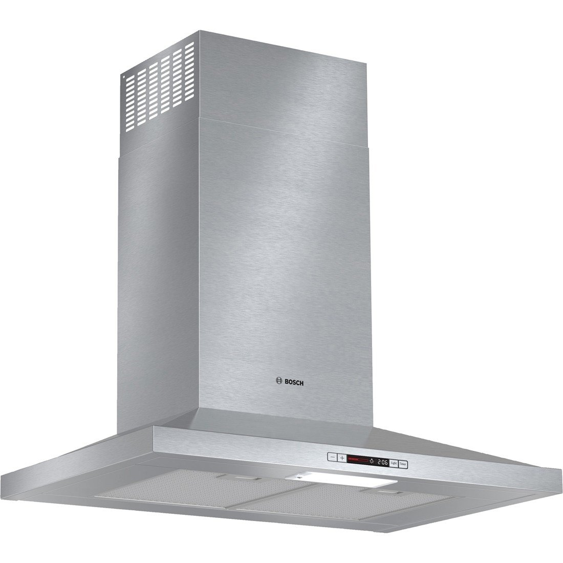HCP30E51UC 30'''' Wide Energy Star Series Pyramid Canopy Chimney Hood 300 CFM Centrifugal Integrated Blower Three Speed Touch Controls with LCD Display Aluminum Mesh Filters in Stainless Steel