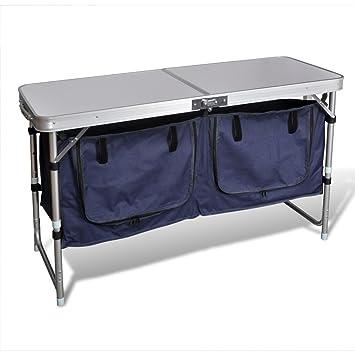 Amazonde Faltbar Camping Schrank Mit Aluminium Rahmen Für Camping
