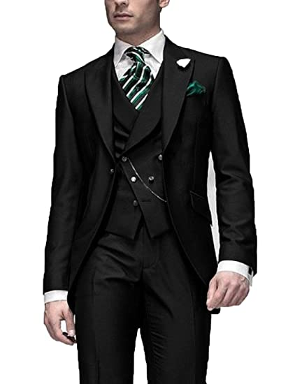 DGMJ Mens Suits Slim Fit 3 Piece Designer Formal Dinner ...