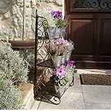 Das Plant Theatre (Traditionellen - Design) ? ein aus drei Stufen bestehendes Regal-Element für Kräuter und Topfpflanzen. Abbildung: Bronzefarbenes Metall.