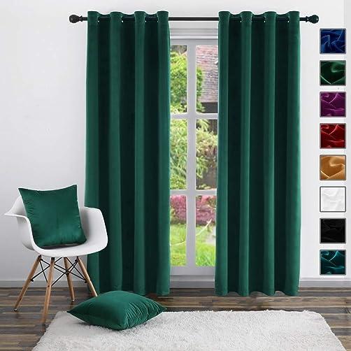 Velvet Curtains,Twin Six Blackout Curtains